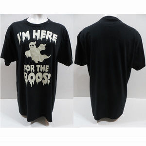 Halloween shirt Large I'm Here For The Boos ghost